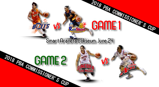 List of PBA Games: June 24 at Smart Araneta Coliseum 2018 PBA Commissioner's Cup