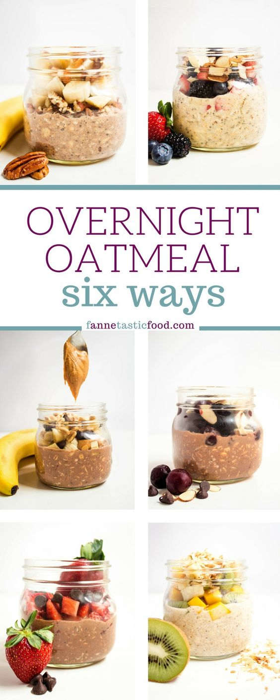 Overnight Oatmeal Six Ways