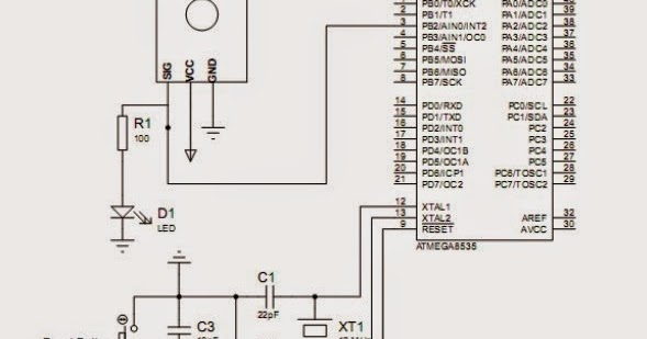 hamamatsu uvtron sensor interfacing with microcontroller circuit schematic