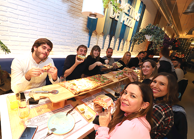 Kilómetros de Pizza en Las Rozas