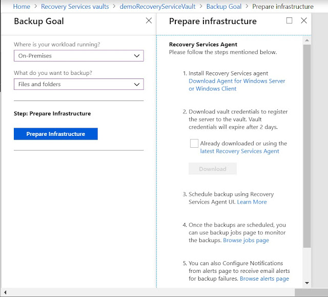 Prepare infrastructure - Download