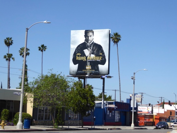 King Arthur 2017 movie billboard