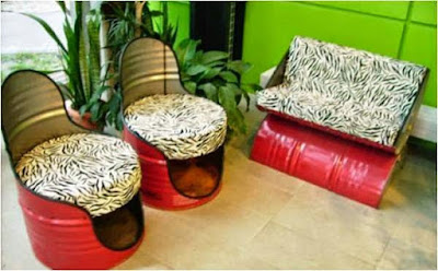 conseils d co et relooking recyclage comment donner une seconde vie aux vieux barils m talliques. Black Bedroom Furniture Sets. Home Design Ideas