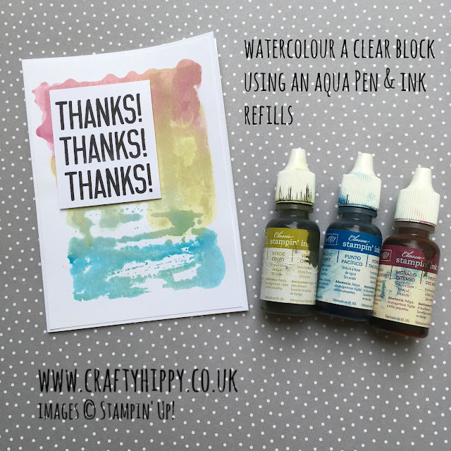 Make a beautiful watercolour effect card using Clear Blocks and Ink Refills