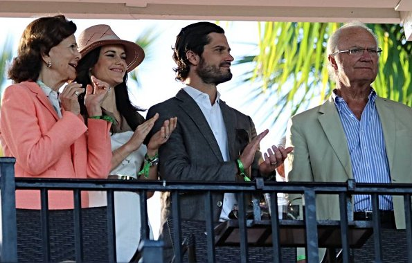 Queen Silvia. Princess Madeleine has been living in Florida. Princess Sofia wore Hugo Boss Kaleva sleeveless dress