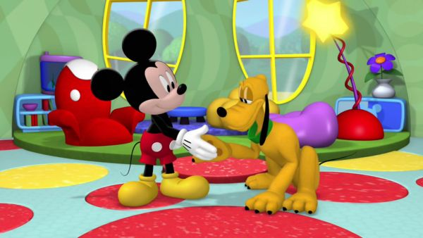 MICKEY MOUSE: Hiya, Pluto, shake!