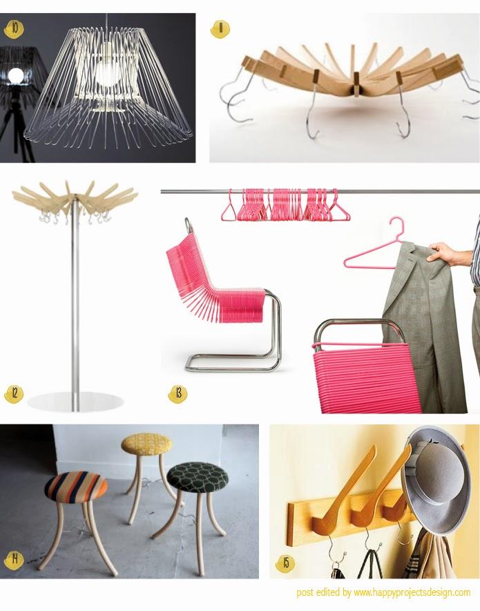 reciclaje y creatividad con perchas: objetos de diseño