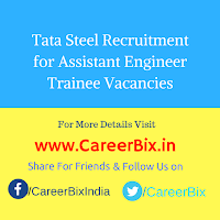 Tata Steel Recruitment for Assistant Engineer Trainee Vacancies