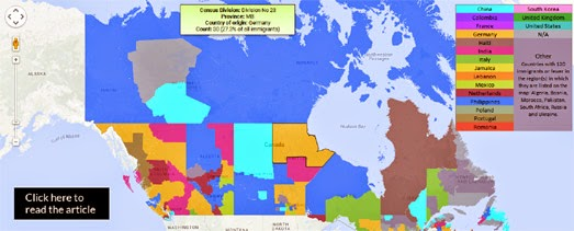 maps mania  the canadian immigrant map