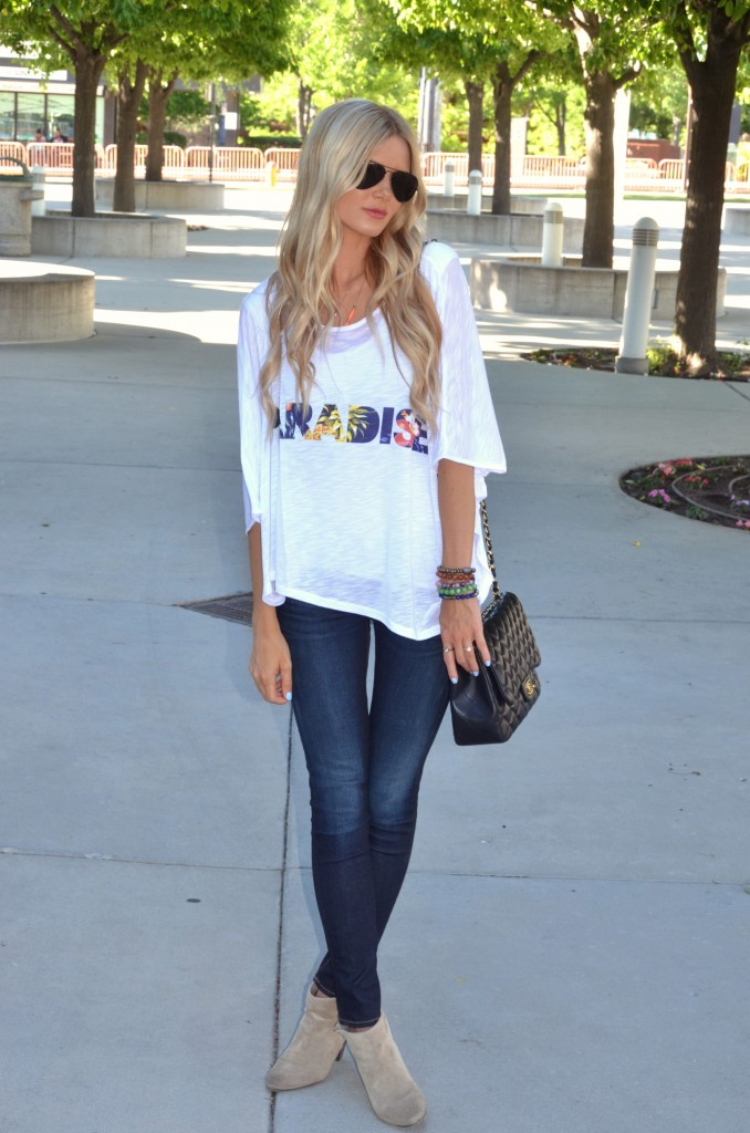 Girl In White Shirt And Skin Tight Jeans  Fashion Tribe-4746