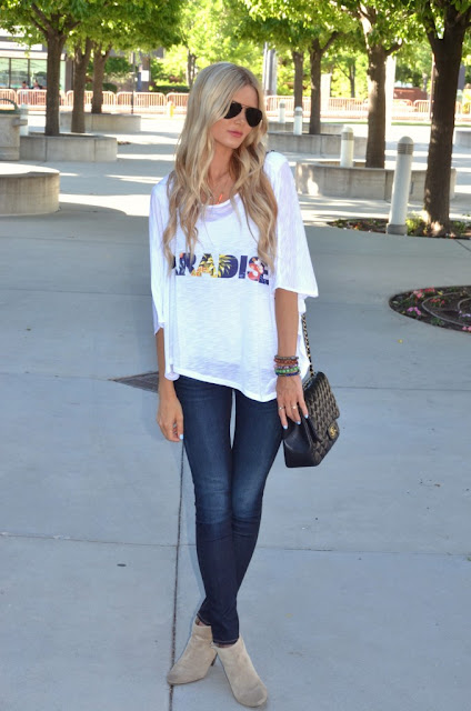Girl In White Shirt And Skin Tight Jeans Fashion Tribe