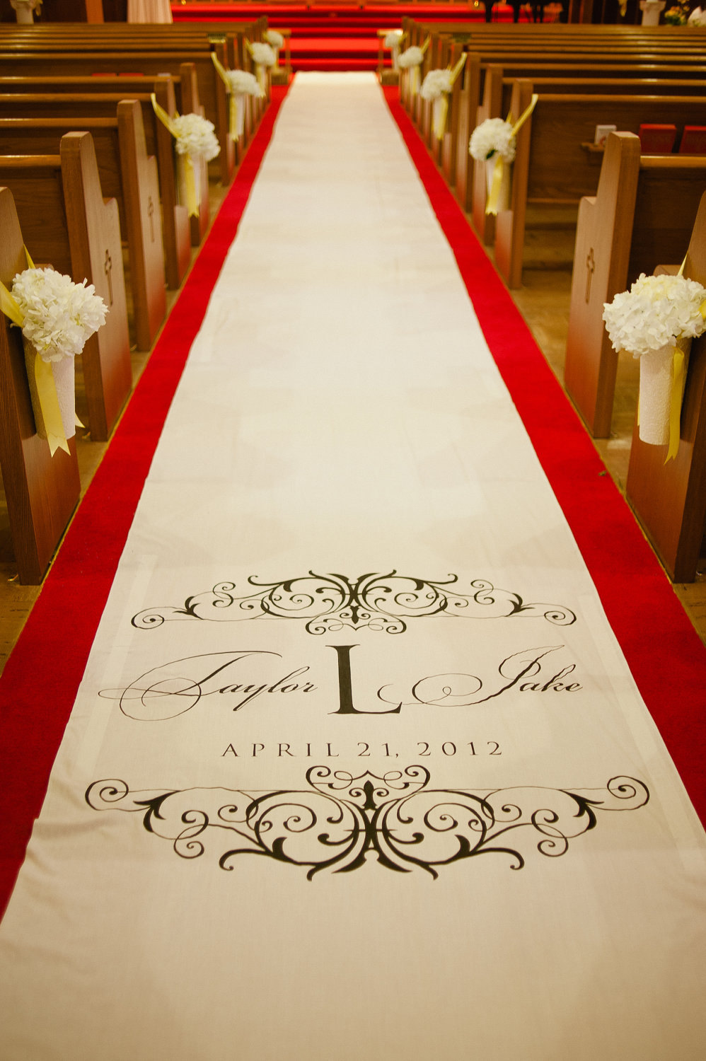 monogram wedding runner