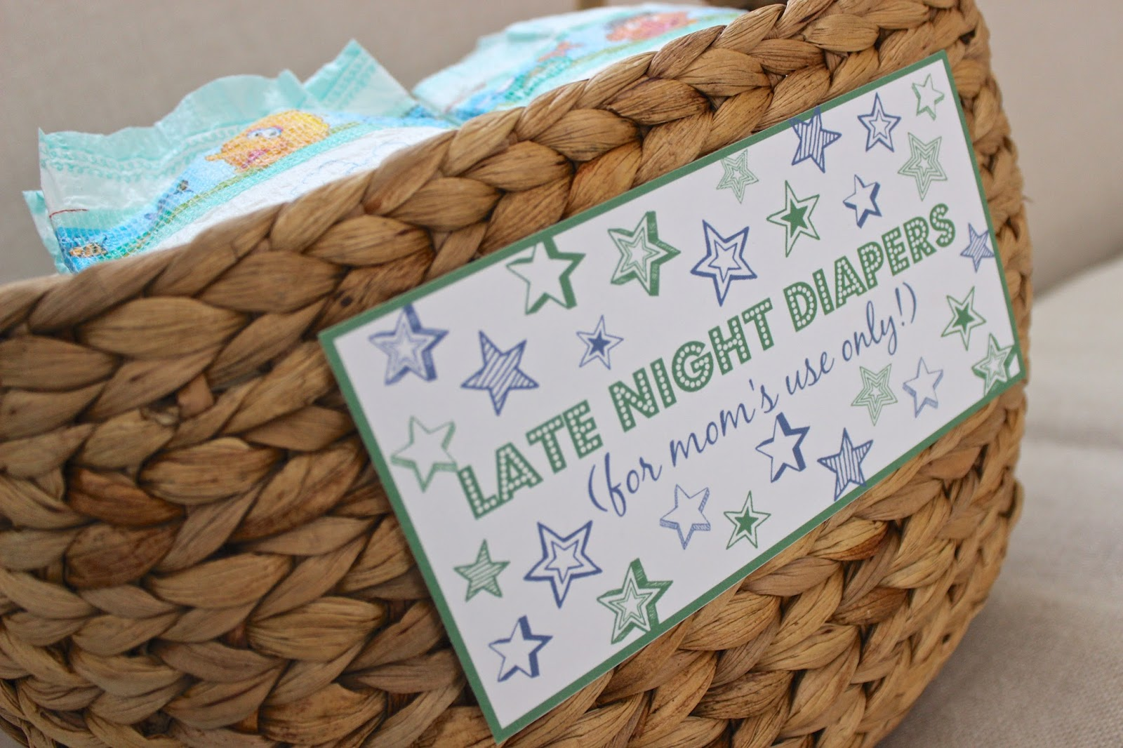 image regarding Late Night Diaper Sign Free Printable named Late Night time Diapers Little one Shower Printables Powered as a result of Decor