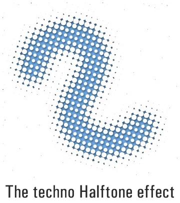 Halftone текстовый эффект в Фотошопе