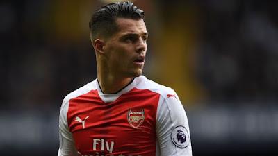 Arsenal star Xhaka challenges team-mate  Lacazette
