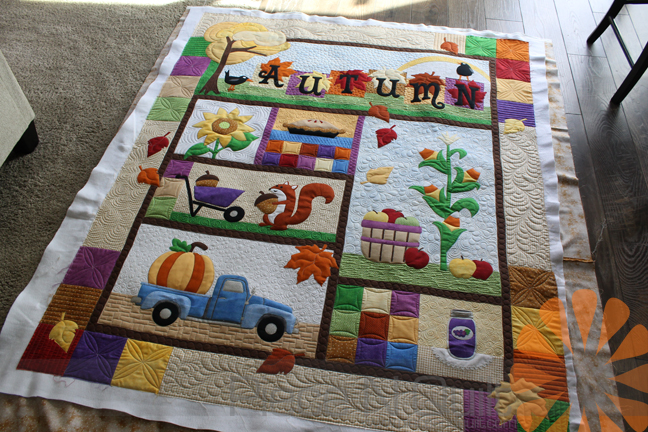 Piece N Quilt: Autumn Quilt - Custom Machine Quilting by Natalia ... : how to put together a quilt - Adamdwight.com