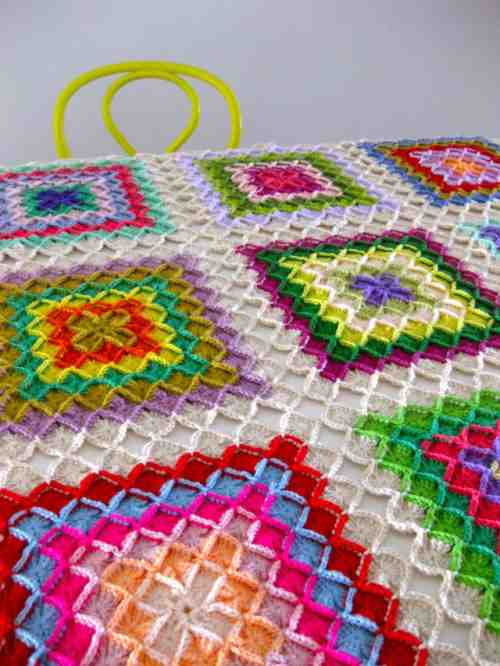 Crochet Bavarian Square Afghan Tutorial Only Quilt Lovers