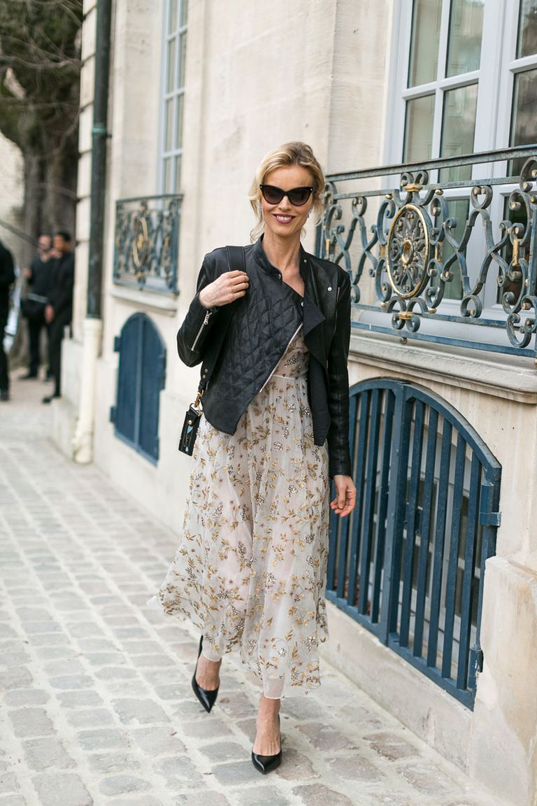 We Can't Get Enough of This Floral/Tough Street Style Look