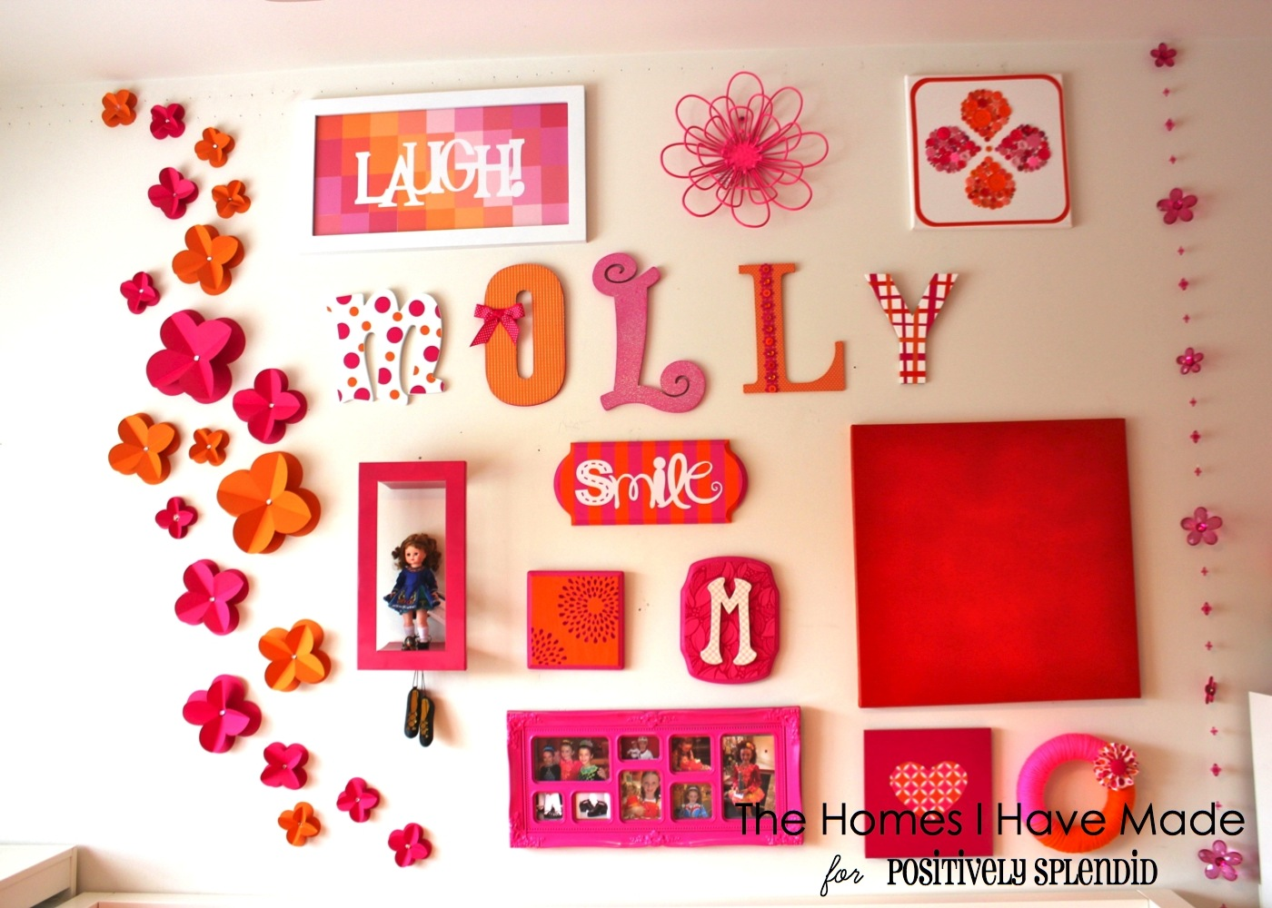 3d Paper Wall Flowers Positively Splendid Crafts Sewing Recipes