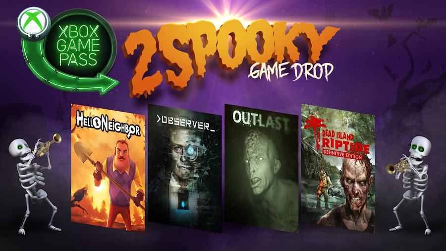 xbox game pass dead island riptide outlast halloween