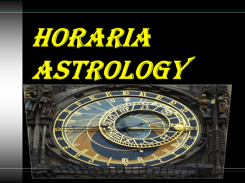 Horaria Astrology 2018