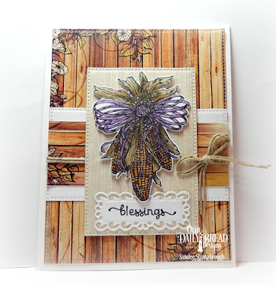 Our Daily Bread Designs Stamp Set: A-Maize-ing, Our Daily Bread Designs Custom Dies: Indian Corn, Pierced Rectangles, Filigree Frames, Our Daily Bread Designs Paper Collection: Rustic Beauty
