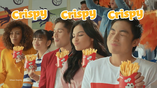 JOLLIBEE LAUNCHES CRISPY SARAP-FRIES NEW AD