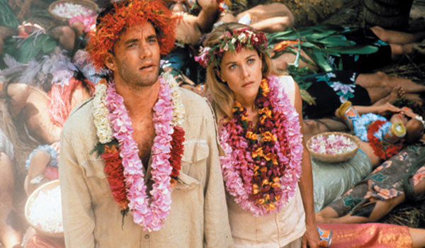 Tom Hanks and Meg Ryan in Joe Versus the Volcano