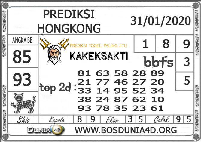 Prediksi Togel HONGKONG DUNIA4D 31 JANUARI 2020