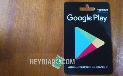Cara Membeli Voucher Google Play