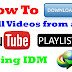 How to download YouTube playlist/channel using IDM in 2017