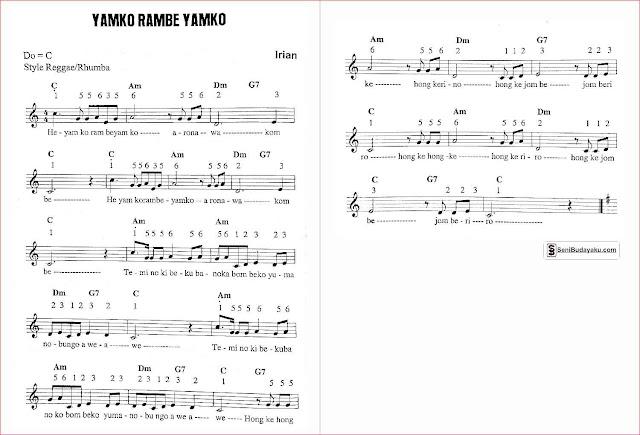 gambar-lirik-dan-not-angka-lagu-yamko-rambe-yamko-papua