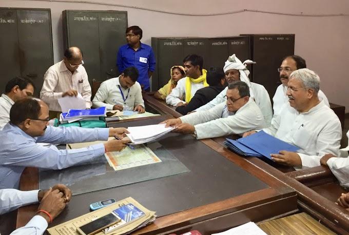 नामांकन प्रक्रिया पूर्ण, बलिया में 19 तो सलेमपुर में 21 ने भरें पर्चे