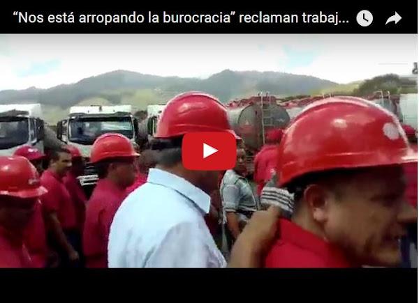 Empleados Chaburros de PDVSA se enfrentan a Eulogio del Pino