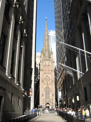 Trinity Church from Wall Street