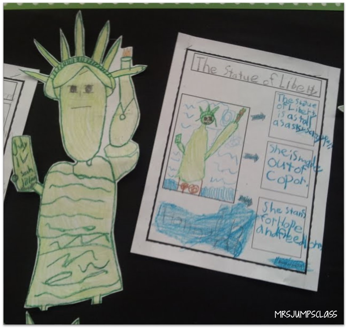 American symbols for kids in kindergarten and first grade [ 1067 x 1150 Pixel ]