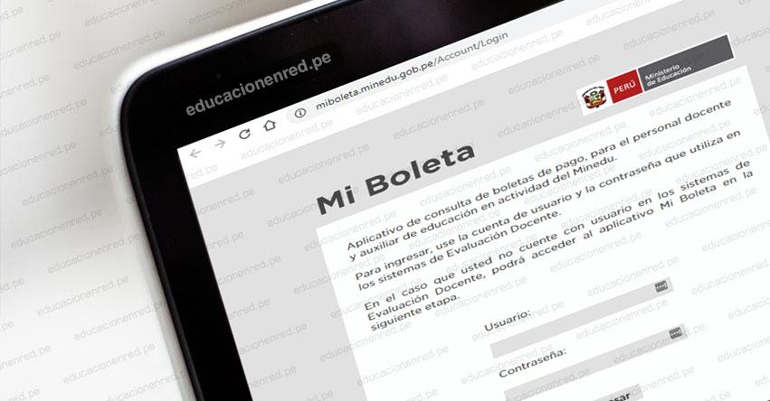 MINEDU: Plataforma para descargar boletas de pago de Docentes y Auxiliares de Educación