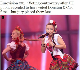 http://www.independent.co.uk/arts-entertainment/music/news/eurovision-2014-voting-controversy-after-uk-jury-revealed-to-place-conchita-first--but-british-public-voted-for-donatan--cleo-9351644.html