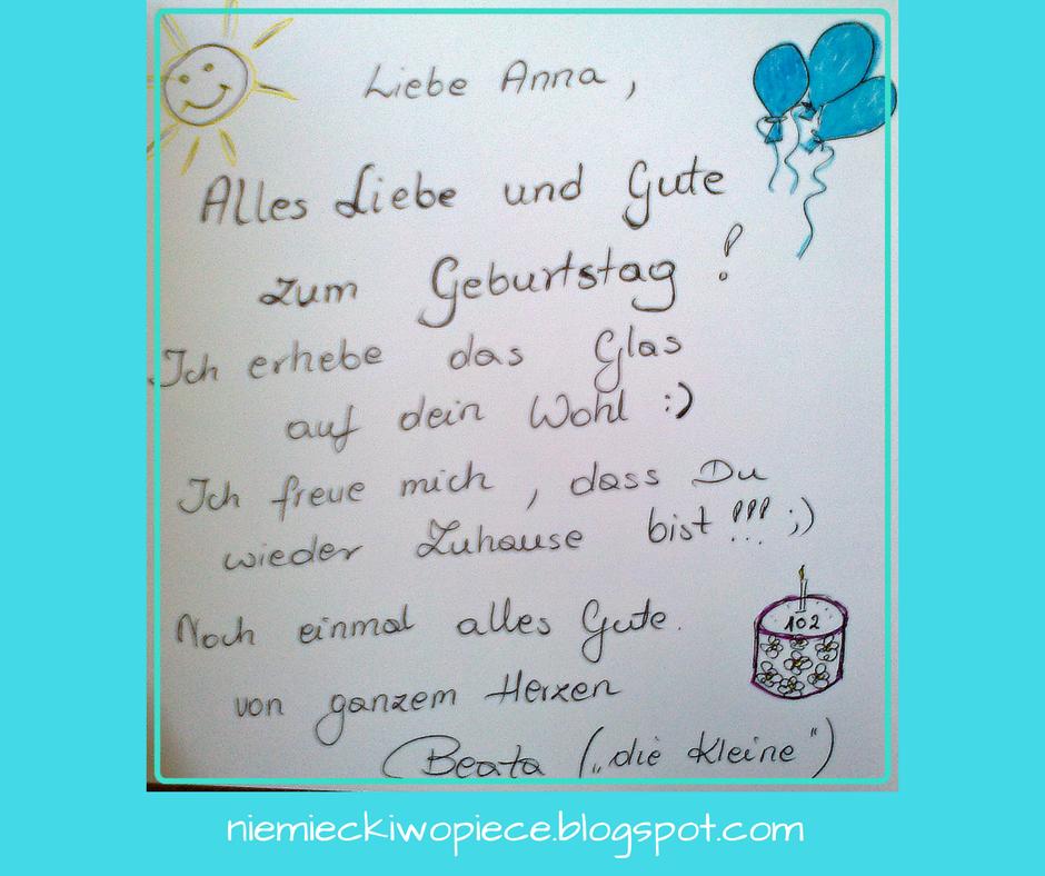 życzenia Urodzinowe Po Niemiecku Geburtstagswünsche