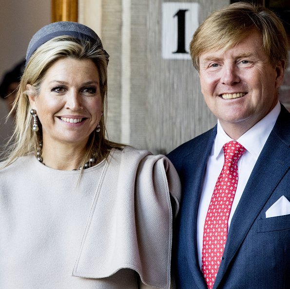Queen Maxima wore Natan top from Fall-Winter 2019 colection. The Queen's new outfit is from Belgian fashion house Natan