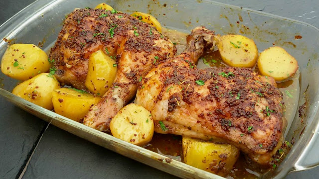 pollo-asado-con-miel-mostaza