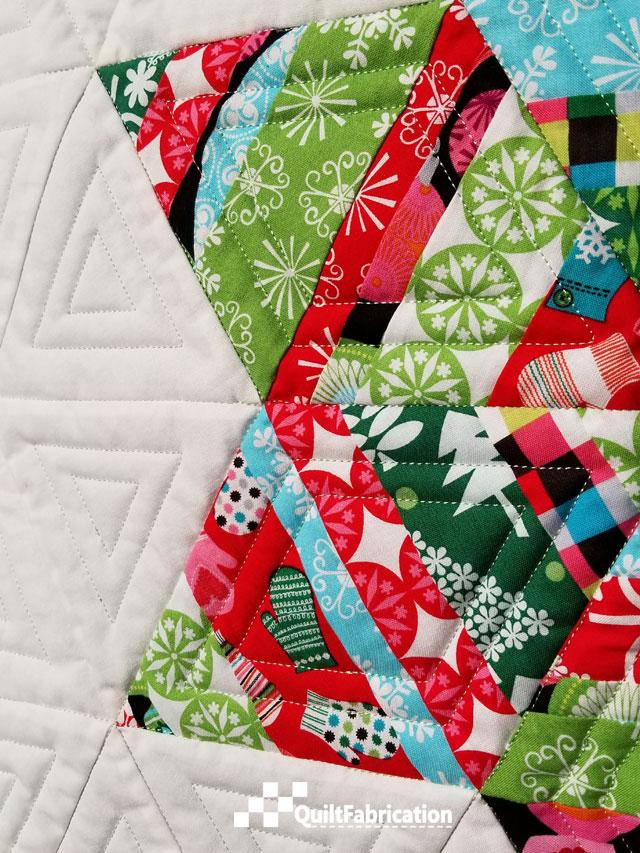 Adorn wall quilt closeup