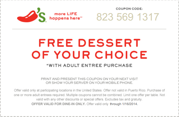 image regarding Chilis Printable Coupon named Chilis discount codes absolutely free dessert : Droid x2 battery bh5x