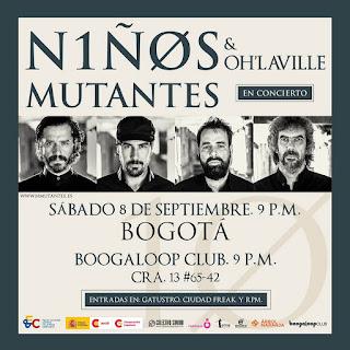 POSTER Concierto de NIÑOS MUTANTES y Oh'Laville