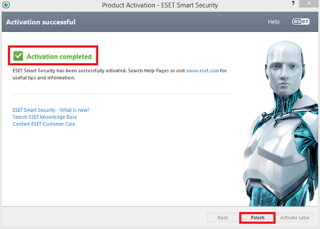 Eset Smart Security Activation Process