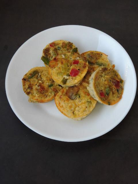 Mini Crustless Vegetable Quiche