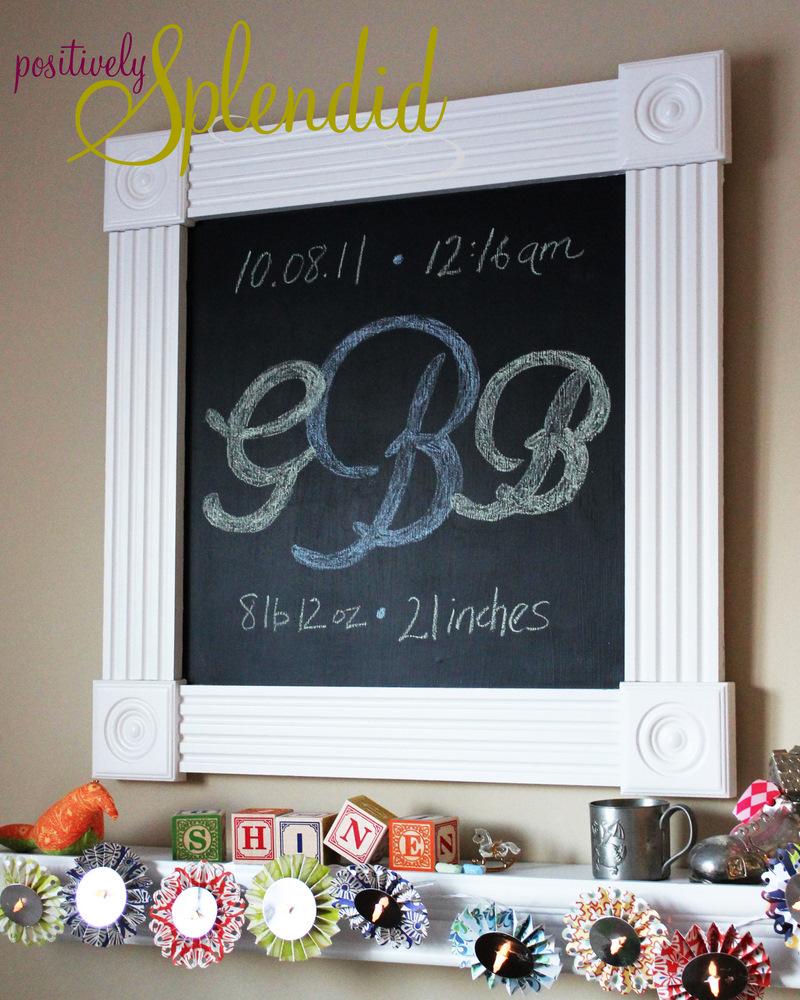diy framed chalkboard tutorial - Diy Chalkboard Frame