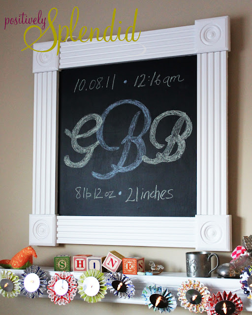 Framed Custom Chalkboard and Magnetic Board - Positively Splendid ...