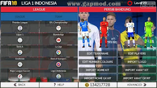 Download FTS Mod FIFA 18 Gojek League 1 Indonesia (GilaGame)