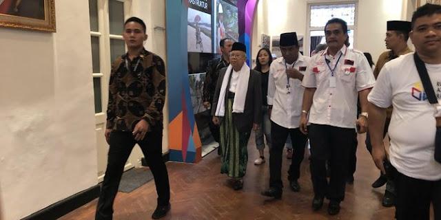 Ma'ruf Amin Harapkan Dukungan dari Sejumlah Musisi Jalanan di Ibu Kota